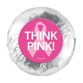 """Personalized Bonnie Marcus Breast Cancer Awareness Simply Pink 1.25"""" Stickers (48 Stickers)"""