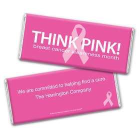 Personalized Bonnie Marcus Breast Cancer Awareness Simply Pink Chocolate Bar & Wrapper