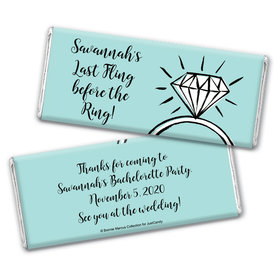 Bonnie Marcus Collection Personalized Chocolate Bar Wrappers Chocolate and Wrapper Last Fling Bachelorette Party Favors