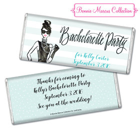 Bonnie Marcus Collection Personalized Chocolate Bar Personalized & Wrapper In Vogue Bachelorette Party Favors