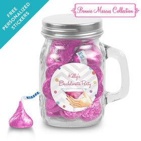 Bonnie Marcus Collection Personalized Mini Mason Mug Here's to You Bachelorette Party (12 Pack)