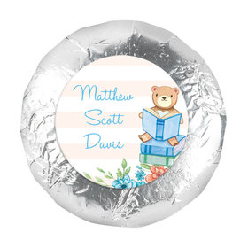 """Bonnie Marcus Collection Birth Announcement Boy Baby Announcements 1.25"""" Stickers (48 Stickers)"""