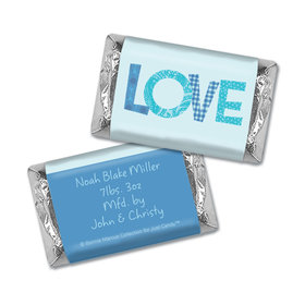Bonnie Marcus Collection Personalized Hershey's Miniatures Wrappers Patterned Love Boy Birth Announcement