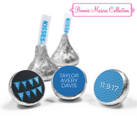 Bonnie Marcus Collection Personalized Hershey's Kisses Candy It's a Boy Banner Boy Birth Announcement (50 Pack)