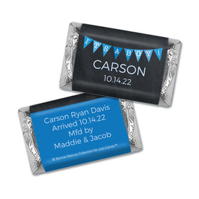 Bonnie Marcus Collection Personalized Chocolate Bar and Wrapper It's a Boy Banner Boy Birth Announcement
