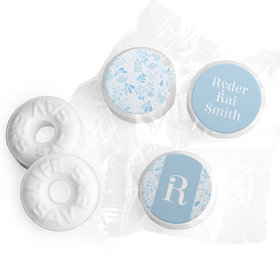 Bonnie Marcus Collection Personalized LIFE SAVERS Mints Flowers and Cute Animals Boy Birth Announcement