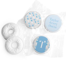 Bonnie Marcus Collection Personalized LIFE SAVERS Mints Blue Hearts Boy Birth Announcement