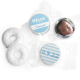 Bonnie Marcus Collection Personalized Photo LIFE SAVERS Mints Name Tag Boy Birth Announcement