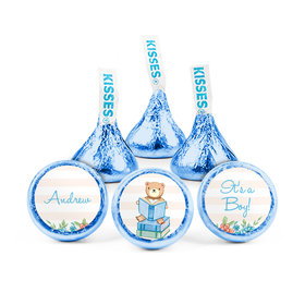 Personalized Boy Birth Announcement Story Time Hershey's Kisses (50 pack)