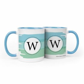 Personalized Baby Boy Announcement Watercolor 11oz Mug