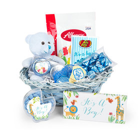 Baby Boy Birth Announcement Sarafi Snuggles Gift Basket
