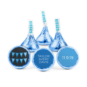 Personalized Bonnie Marcus Boy Birth Announcement Banner Hershey's Kisses (50 pack)