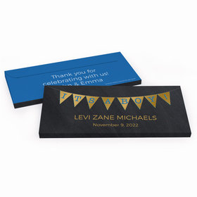Deluxe Personalized Baby Boy Announcement It's a Boy Banner Candy Bar Favor Box
