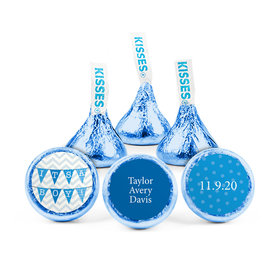 Personalized Boy Birth Announcement Chevron Banner Hershey's Kisses (50 pack)