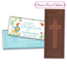 Bonnie Marcus Collection Baptism Embossed Cross Chocolate Bar