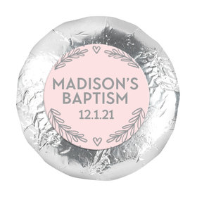 """Personalized Bonnie Marcus Baptism Filigree and Heart 1.25"""" Stickers (48 Stickers)"""