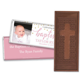 Personalized Bonnie Marcus Baptism Confetti Embossed Chocolate Bar