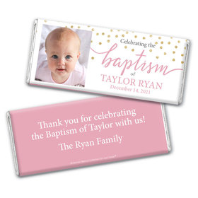 Personalized Bonnie Marcus Baptism Confetti Chocolate Bar & Wrapper