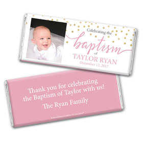 Personalized Bonnie Marcus Baptism Confetti Chocolate Bar Wrappers Only
