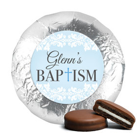 Personalized Bonnie Marcus Baptism Floral Filigree Chocolate Covered Oreos