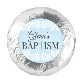"""Personalized Bonnie Marcus Baptism Floral Filigree 1.25"""" Stickers (48 Stickers)"""