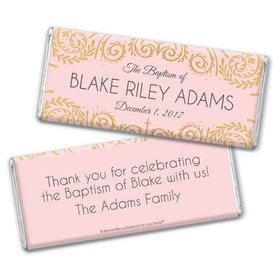 Personalized Bonnie Marcus Baptism Scroll Chocolate Bar & Wrapper