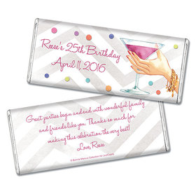 Bonnie Marcus Collection Personalized Chocolate Bar Birthday Wrappers Here's to You