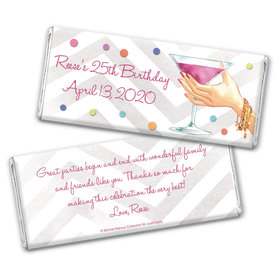 Bonnie Marcus Collection Personalized Chocolate Bar Wrappers Birthday Wrappers Here's to You
