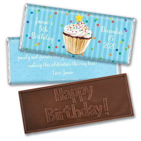 Bonnie Marcus Collection Personalized Embossed Chocolate Bar Birthday Wrappers Cupcake Dazzle