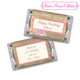 Bonnie Marcus Collection Chocolate Candy Bar and Wrapper Blooming Joy Birthday Party Favor