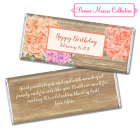 Bonnie Marcus Collection Personalized Chocolate Bar Chocolate and Wrapper with Gold Foil Blooming Joy Birthday Party Favor