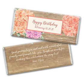 Bonnie Marcus Collection Personalized Chocolate Bar Wrappers Chocolate and Wrapper Blooming Joy Birthday Party Favor