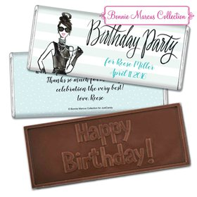 Bonnie Marcus Collection Personalized Embossed Chocolate Bar Chocolate & Wrapper In Vogue Birthday