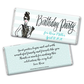 Bonnie Marcus Collection Personalized Chocolate Bar Wrappers Chocolate & Wrapper In Vogue Birthday