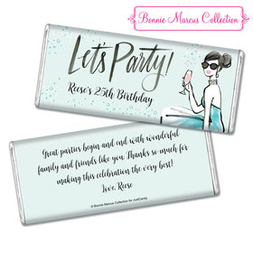 Bonnie Marcus Collection Personalized Chocolate Bar Birthday Wrappers Sunny Soiree Birthday Favors