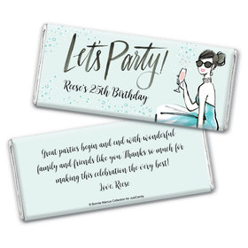 Bonnie Marcus Collection Personalized Chocolate Bar Wrappers Birthday Wrappers Sunny Soiree Birthday Favors