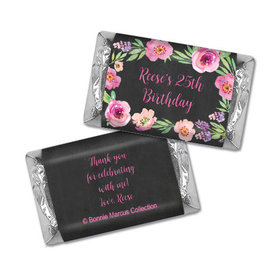 Bonnie Marcus Collection Personalized Mini Candy Bar Wrapper Floral Embrace Birthday Favors