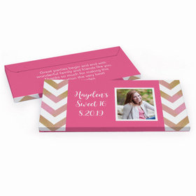 Deluxe Personalized Sweet 16 Picture Your Birthday Hershey's Chocolate Bar in Gift Box