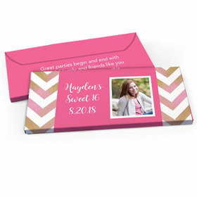 Deluxe Personalized Sweet 16 Picture Your Birthday Candy Bar Favor Box