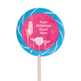 """Born to be Fabulous Personalized 3"""" Lollipops (12 Pack)"""