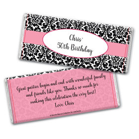 Personalized Adult Birthday Embossed Chocolate Bar Wrapper