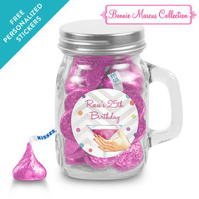 Bonnie Marcus Collection Personalized Mini Mason Jar Here's to You (12 Pack)