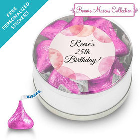 Bonnie Marcus Collection Personalized Small Silver Plastic Tin Blithe Spirit Birthday (25 Pack)