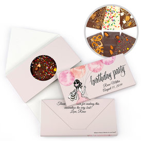 Personalized Bonnie Marcus Birthday Blithe Spirit Gourmet Infused Belgian Chocolate Bars (3.5oz)