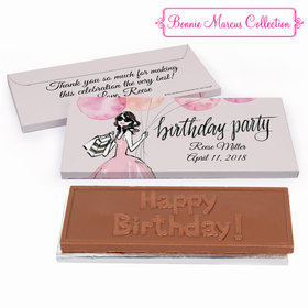 Deluxe Personalized Birthday Blithe Spirit Chocolate Bar in Gift Box