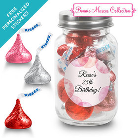 Bonnie Marcus Collection Personalized Mason Jar Blithe Spirit Birthday (24 Pack)