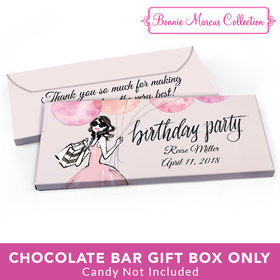 Deluxe Personalized Birthday Blithe Spirit Candy Bar Favor Box