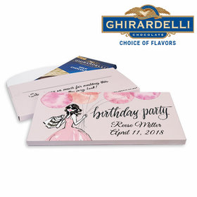 Deluxe Personalized Birthday Blithe Spirit Ghirardelli Chocolate Bar in Gift Box