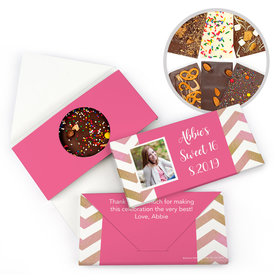 Personalized Bonnie Marcus Birthday Chevron Photo Gourmet Infused Belgian Chocolate Bars (3.5oz)