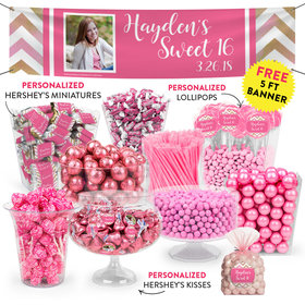 Personalized Bonnie Marcus Birthday Chevron Photo Deluxe Candy Buffet